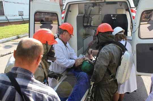 """На """"Черкаському Азоті"""" проведено навчання рятувальників з ліквідації умовної надзвичайної ситуації"""